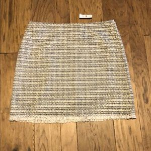 NWT loft outlet size 14 tweed skirt